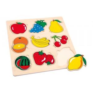 Puzzle drewniane - owoce (Z0004)