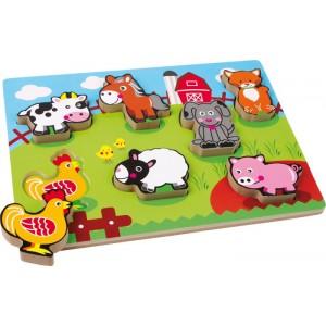 Puzzle drewniane - Farma (Z0265)