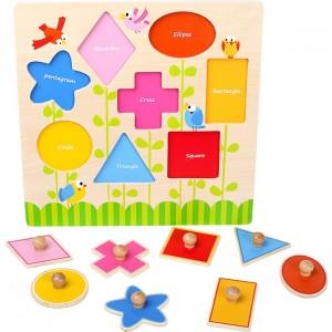 """Puzzle wkładanka geometryczna """"Kształty"""" (Z0421)"""