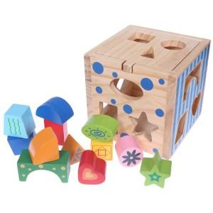 EDUFUN - drewniany sorter - kostka edukacyjna (Z0438)
